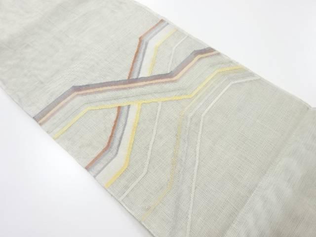 紗変わり横段模様織出袋帯【リサイクル】【中古】【着】 宗sou