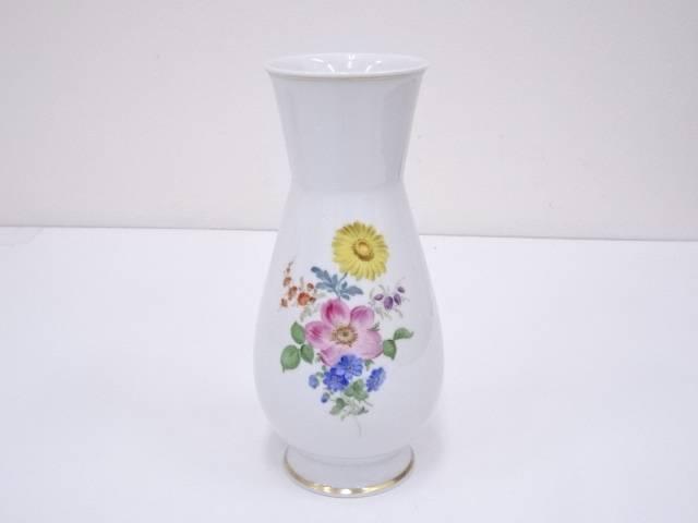 Meissen マイセン 花柄花瓶【中古】【道】 宗sou