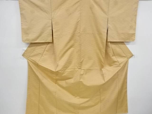 未使用品 仕立て上がり 麻の葉模様織り出し手織り節紬着物【着】 宗sou