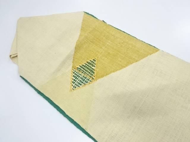 手織り紬モール菱模様名古屋帯【リサイクル】【中古】【着】 宗sou