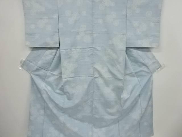 菊模様織り出し手織り真綿紬着物【リサイクル】【中古】【着】 宗sou