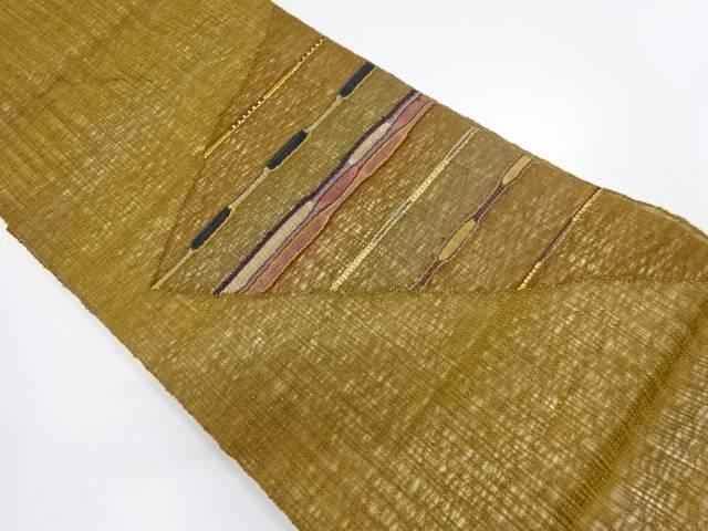 すくい織横段模様織出し夏用袋帯【リサイクル】【中古】【着】 宗sou