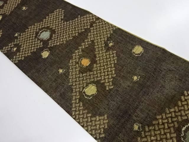 すくい織抽象模様織出し袋帯【リサイクル】【中古】【着】 宗sou