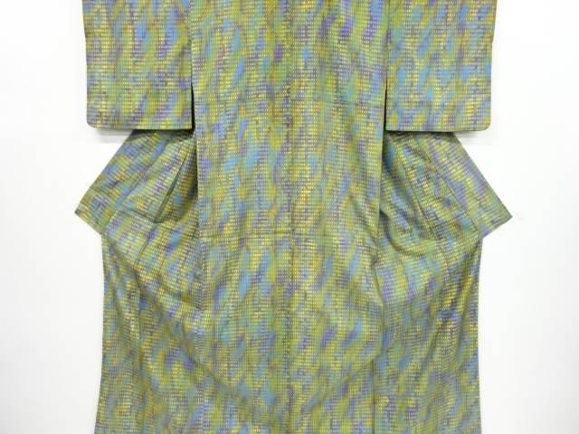 抽象模様手織り節紬着物【リサイクル】【中古】【着】 宗sou