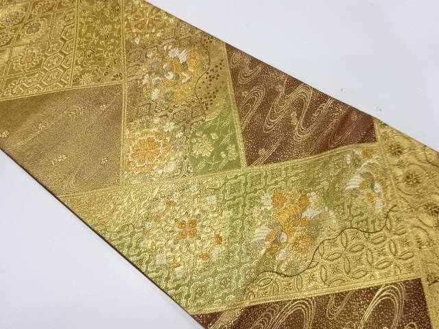 未使用品 花鳥模様織出し袋帯(未仕立て)【リサイクル】【着】 宗sou