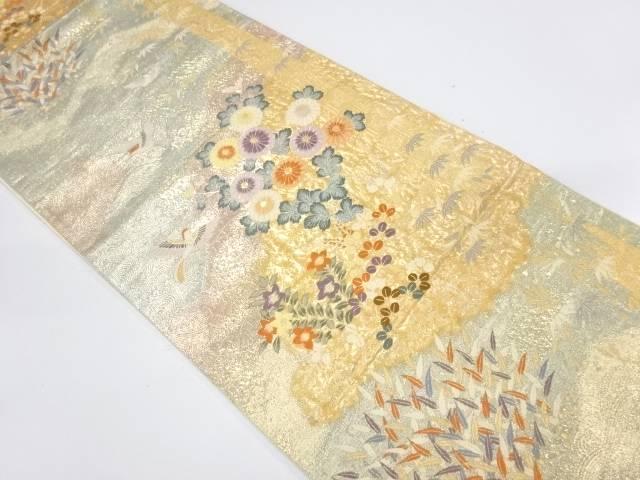 九百本金弐重織献上花鳥菊織出し袋帯【リサイクル】【中古】【着】 宗sou