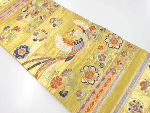 本金箔花鳥文様織り出し袋帯【リサイクル】【中古】【着】 宗sou