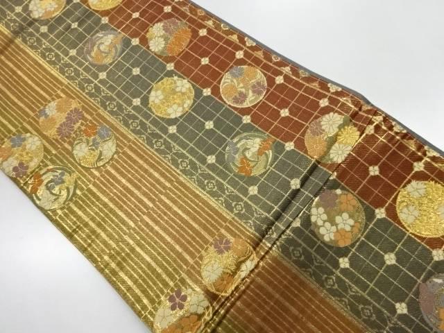 花丸文様織出し袋帯【リサイクル】【中古】【着】 宗sou