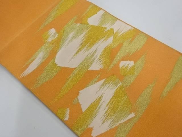 藤織製 綴れ霞に色紙模様織出し袋帯【リサイクル】【中古】【着】 宗sou