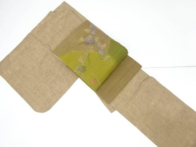 手織り真綿紬着物 相良刺繍名古屋帯セット【リサイクル】【中古】【着】 宗sou
