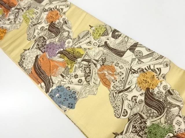 平安人物模様織出し袋帯【リサイクル】【中古】【着】 宗sou