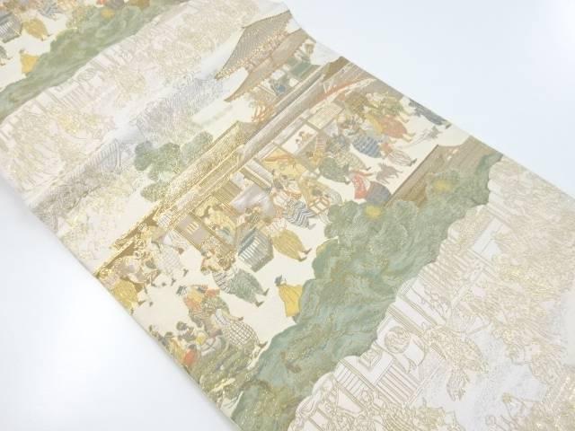 本金時代人物に南蛮人模様織り出し袋帯【リサイクル】【中古】【着】 宗sou