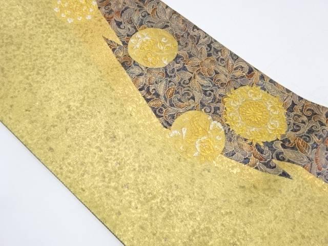 花鳥に花唐草模様織出し袋帯【リサイクル】【中古】【着】 宗sou