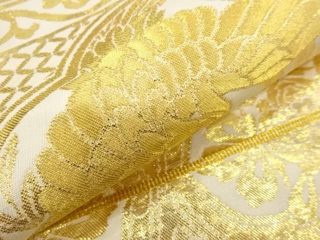 鳳凰に草花模様織出し袋帯 リサイクル着宗soukXN8n0wOZP