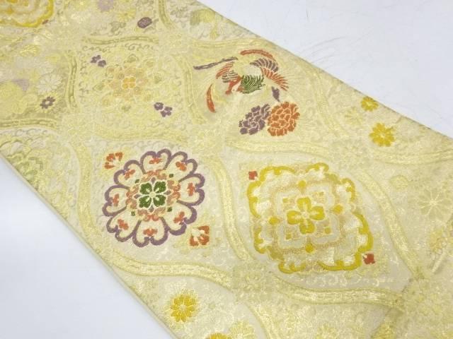 立涌に鳳凰・華紋模様織出し袋帯【リサイクル】【中古】【着】 宗sou