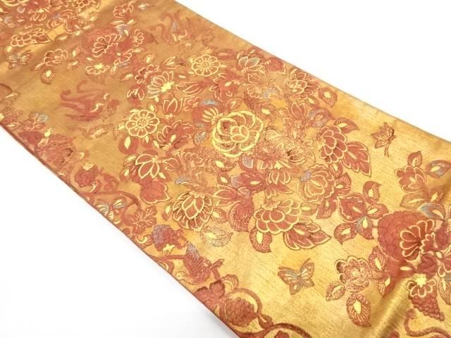 彩宴飾唐花紋織出し袋帯【リサイクル】【中古】【着】 宗sou