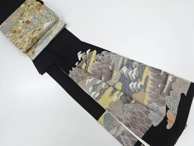 金彩屋敷に松樹木模様留袖・長襦袢・袋帯セット(比翼付き)【リサイクル】【中古】【着】 宗sou