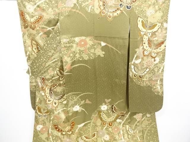 金彩蝶に菊模様振袖【リサイクル】【中古】【着】 宗sou