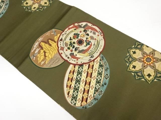 宮廷鏡裏紋様織出し袋帯【リサイクル】【中古】【着】 宗sou