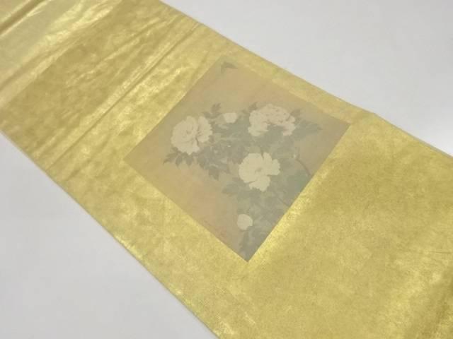 引箔色紙に草花・蝶模様袋帯【リサイクル】【中古】【着】 宗sou