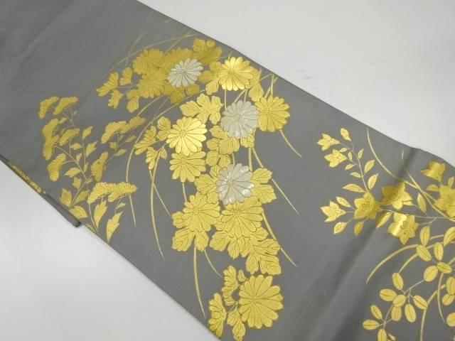 金彩螺鈿秋草模様袋帯【リサイクル】【中古】【着】 宗sou