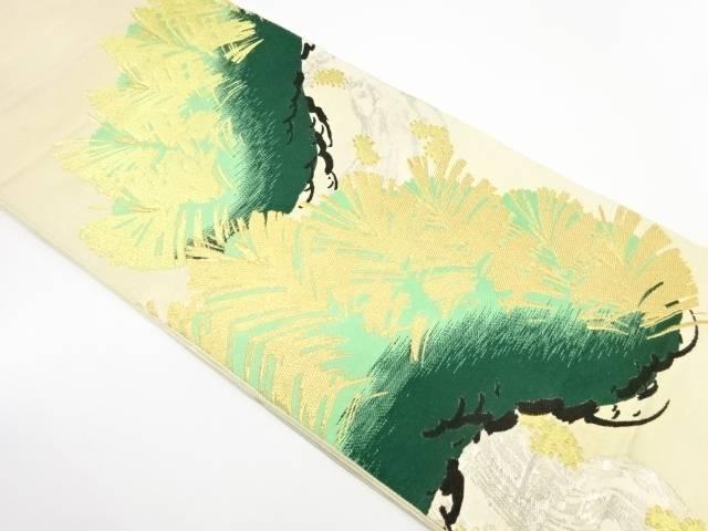 川島織物製 松模様織出し袋帯【リサイクル】【中古】【着】 宗sou