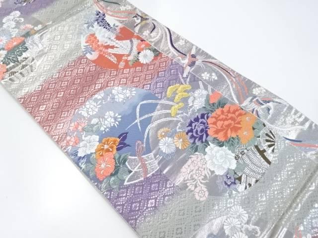 鳳染花丸文織出袋帯【リサイクル】【中古】【着】 宗sou