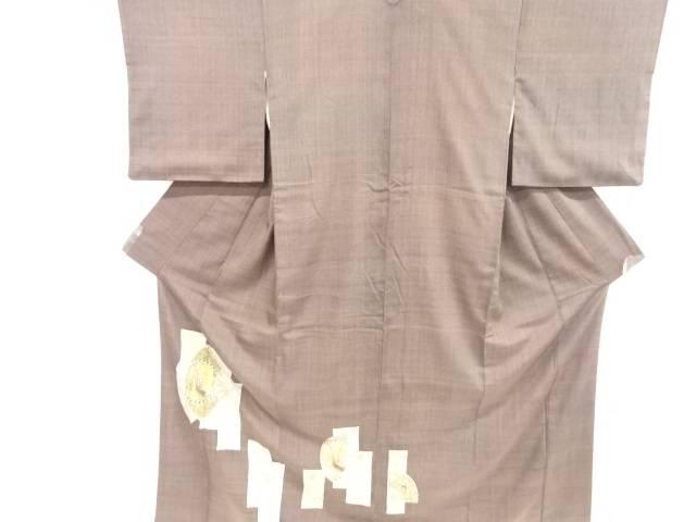東京ますいわ屋 汕頭蘇州刺繍扇面に花鳥模様手織り真綿紬訪問着【リサイクル】【中古】【着】 宗sou