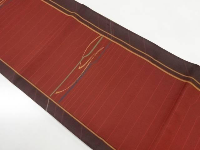 横段模様織出し洒落袋帯【リサイクル】【中古】【着】 宗sou