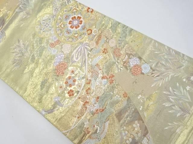 本金熨斗に花鳥模様織り出し袋帯【リサイクル】【中古】【着】 宗sou