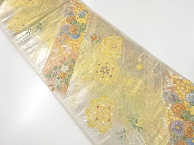 斜取蒔絵文織出袋帯【リサイクル】【中古】【着】 宗sou