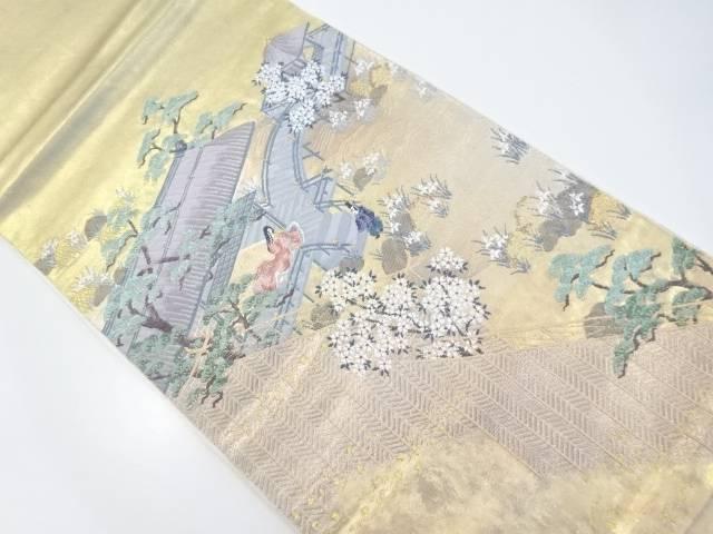 本金屋敷に時代人物模様織り出し袋帯【リサイクル】【中古】【着】 宗sou