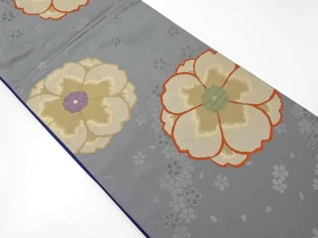 八重桜模様織り出し袋帯【リサイクル】【中古】【着】 宗sou