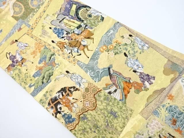 本金京都葵祭模様織出袋帯【リサイクル】【中古】【着】 宗sou