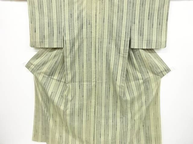 創作手織り紬縞模様単衣着物【リサイクル】【中古】【着】 宗sou