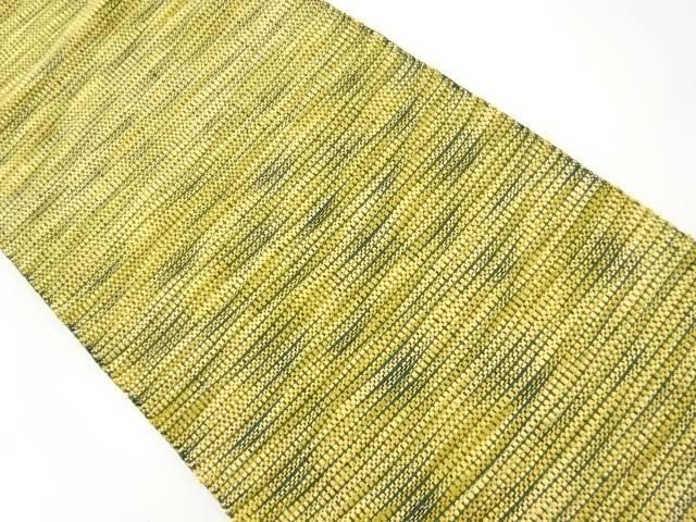 作家物 手織り真綿紬よろけ横段織り出し名古屋帯【リサイクル】【中古】【着】 宗sou