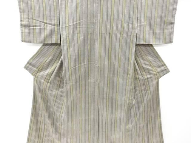 縞模様手織り真綿紬着物【リサイクル】【中古】【着】 宗sou