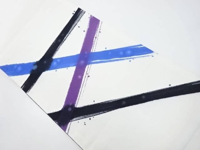 手描き線描き模様袋帯【リサイクル】【中古】【着】 宗sou