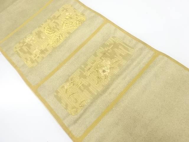 格子竹枝文織出し袋帯【リサイクル】【中古】【着】 宗sou