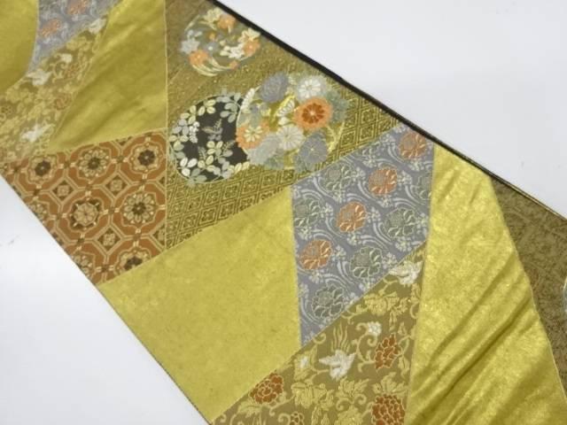 切嵌風花丸紋に花鳥模様織出し袋帯【リサイクル】【中古】【着】 宗sou