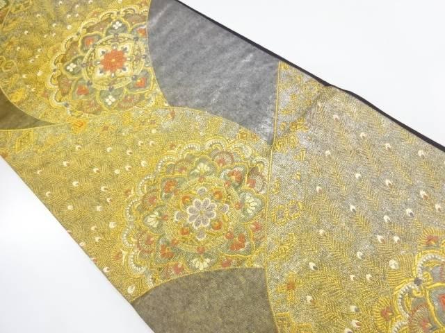 華紋孔雀模様織出し袋帯【リサイクル】【中古】【着】 宗sou