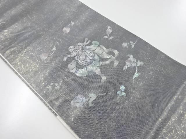 引箔螺鈿異国人物に動物模様袋帯【リサイクル】【中古】【着】 宗sou