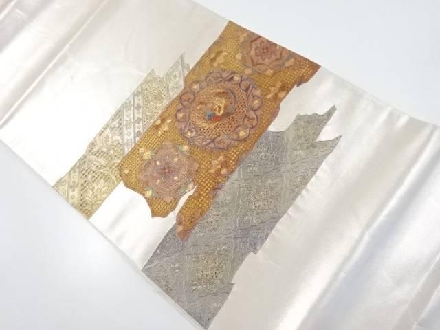 汕頭蘇州刺繍華紋に鳳凰模様袋帯【リサイクル】【中古】【着】 宗sou