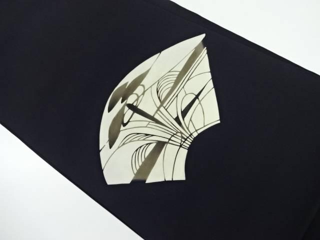 塩瀬地紙に草花模様名古屋帯【リサイクル】【中古】【着】 宗sou