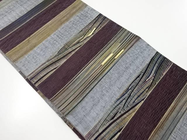 金彩螺鈿横段に波模様織出し袋帯【リサイクル】【中古】【着】 宗sou