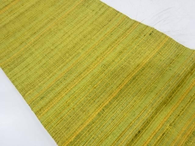 手織り真綿紬横段模様織出し全通袋帯【リサイクル】【中古】【着】 宗sou