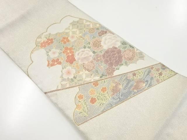 綴れ扇面に花鳥模様織出し袋帯【リサイクル】【中古】【着】 宗sou