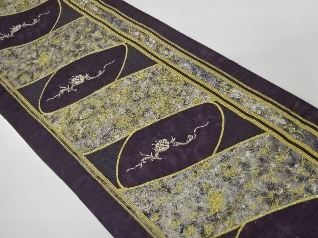 豪奢な 縞に花唐草模様織出し袋帯【リサイクル】【】【着】 宗sou, 鳴門青果 a08db5e6