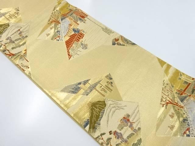 本金箔東海道五十三次模様織り出し袋帯【リサイクル】【中古】【着】 宗sou