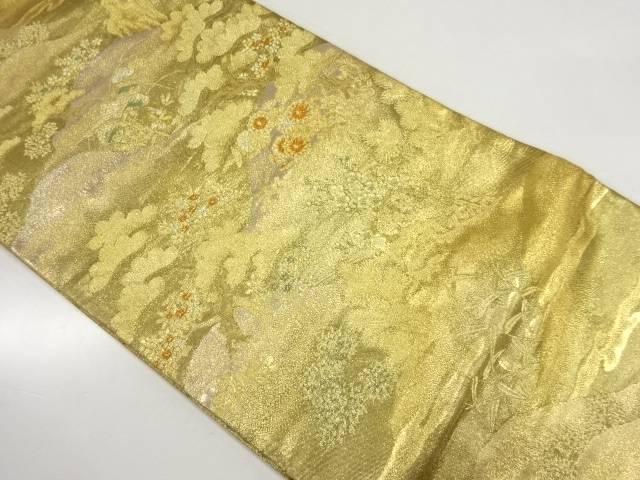 風景模様織出し袋帯【リサイクル】【中古】【着】 宗sou